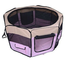 Pet Playpen Pink Exercise Kennel Soft Tent Puppy Dog Crate Small Medium Large