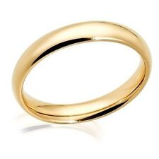 3mm Classic Wedding Engagement Band Yellow Gold Plated 316L Stainless Steel Ring