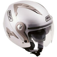 BOX JZ1 SILVER MOTORCYCLE HELMET + FREE UK DELIVERY- SMALL