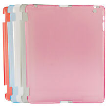 Colourful Clear Crystal Hard Back Case Work with Smart Cover For iPad3rd