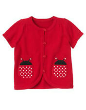 NWT Gymboree POLKA DOT LADYBUG Red Cardigan Sweater Girls Size 3-4