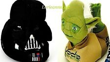New STAR WARS SLIPPERS Kids 7, 8 DARTH VADER, YODA Sock Top Grip Sole