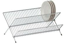 NEW CHROME WIRE DISH RACK DISH DRINAER SINK RACK STRAINER FOR PLATES,BOWLS RACK