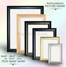 Picture Frame Photo Frame Poster Frame BLACK PINE MAHOGANY SILVER GOLD Colour