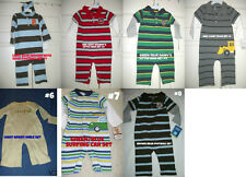 * NWT NEW BOYS 1PC CARTERS Polo WINTER Romper newborn 3m 6M 18M 24M