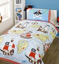 Treasure Quest Pirates and Ships Bedding Duvet Curtains Light Shade Range