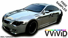Chrome Mirror Car Wrap Vinyl Film 28ftx5ft VViViD CHR3M01 Supreme Air Release