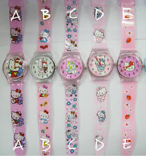 PINK HELLO KITTY GIRLS KIDS CHILDRENS WATCH - 1ST CLASS NEXT DAY FREE DELIVERY