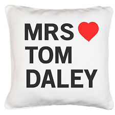 Tom Daley Love Gift Soft Luxury Satin Effect Polyester Cushion