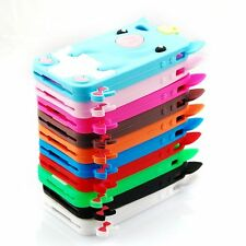Cute 3D Pig Crown Soft Rubber Silicone Skin Case Cover For iPhone 4 4S