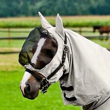 Horze Sweet Itch Eczema Fly Hood Full Face Horse Pony Fly Mask with Net