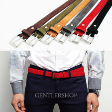 Mens Womens Fashion Genuine Leather Suede Dress Belts 6 Colors, GENTLERSHOP
