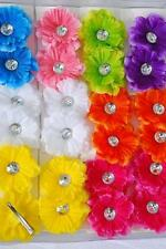 PICK 1 baby OR girls GERBERA daisy FLOWER HAIR BOW clip 8 SPRING COLORS choose 1