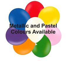 "10"" Balloons Packs of 25 Helium or Air Metallic or Pastel Mutilple Colours"