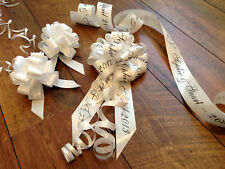 Personalised Wedding Car Ribbon Kit inc Personalised Bow only available from us!