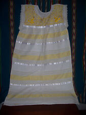 Mexican Hand-Embroidered Huipil Dress
