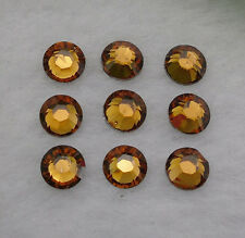 Diy Yellow coffee Multiple facets Resin Flat Back Rhinestones 3/4/5/6mm