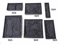 CONCRETE PAVING MOULD SLAB BRICK FLAG - Wall tile moulds set of 6 or separate