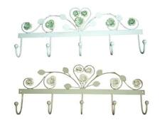 Coat Rack 5 Hooks Chic Vintage French County Shabby Green for Scarves Towels New