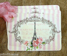 Hang Tags  FRENCH PARIS PINK EIFFEL TOWER TAGS or MAGNET #572  Gift Tags