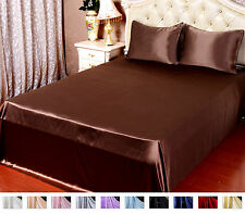 1PC 22MM HEAVY WEIGHT 100% PURE SILK SATIN FLAT SHEET ALL SIZE