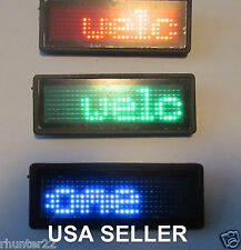 Red Blue or Green LED Name Badge With Scrolling Message- Great for Point of Sale