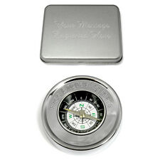 Engraved Coordinate Compass Latitude Longitude Personalised Gift Present