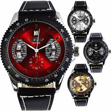 Fashion See Through Date Men Sport Dress Casual Automatic Mechanical Wrist Watch