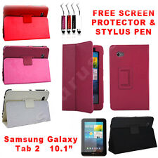 New Leather Smart  Case Cover for Samsung Galaxy Tab 2 10.1 P5100 P5110 P5113