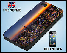New york sky line night USA iPhone 5 Cover Vintage i Phone Case hard
