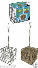 FEEDING CUBE - METAL HAY RACK - RABBITS, GUINEA PIGS, CHINCHILLAS