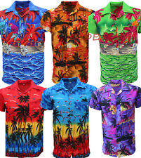 Hawiian Shirt Mens Palm Tree Beach Holiday Fancy Dress Sunset Stag Party Loud