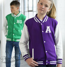 Personalised Kids Varsity Jacket - Childrens College Style Your Slogan Name Text