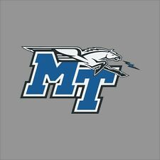 Middle Tennessee Blue Raiders NCAA College Vinyl Sticker Decal Car Window Wall
