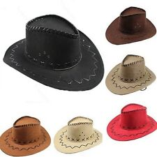 Fashion Rodeo Classic Western Stitched Cowboy Hat Wide Brim Cap New