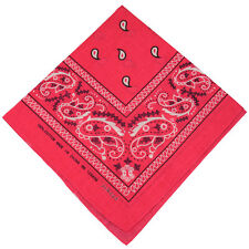 "100% Cotton Paisley Bandanas Double Sided ""Hot Pink"" Handkerchief Headscarf"