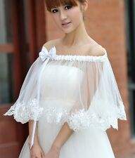 New white or ivory Wedding dress Accessories Bride shawl jacket