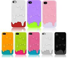 New Colorful Cute 3D Melt Ice Cream Skin Hard Back Case Cover For iPhone 4 4G4S