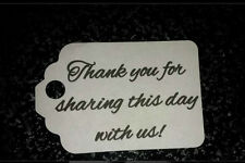 100  Wedding Favor Gift Style Tag Thank You  in White Or Ivory Buy 2 Get 1