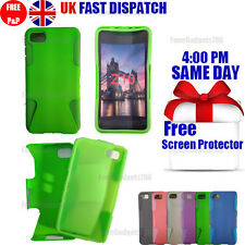 SHOCK PROOF HYBRID SILICONE CASE & FREE SCREEN PROTECTOR FITS BlackBerry Z10