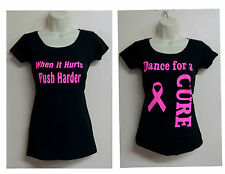 Women shirt workout, Aerobics, zumba yoga,Gym clothing plus size ribbon, cancer