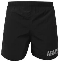 Black Army Physical Training Army Grey Text Jogging PT Shorts