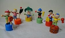 Girl or Boy Wooden Pushing Puppets Pirates Assorted Designs First Class Post