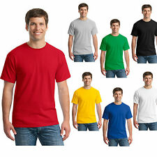 New Mens Basic Plain T-Shirt 100% Cotton Short Sleeve Man Casual Crew Neck tops