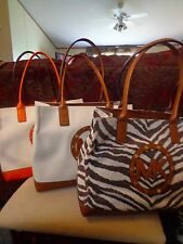 MICHAEL Michael Kors Canvas Sutter Tote - Luggage, Tangerine, Tiger