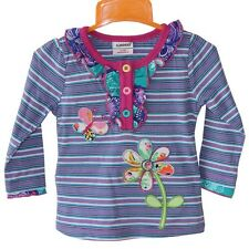 Foral,Striped 2013 New Autumn Long Sleeve Cotton T-shirt For 1-6Y Litter Girls