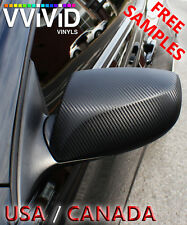 "VViViD Black Carbon Fiber BCF3M01 5.5ftx5ft 66""x60"" Vinyl Wrap Air Release Tech"