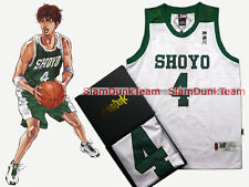 SLAM DUNK Cosplay Costume Shoyo School Basketball #4 Fujima Swingman Jersey WHT