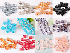 New 70pcs/350pcs Shine Waterdrop Faceted Glass Crystal Spacer Beads Jewelry 8mm