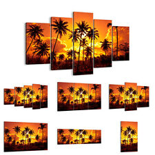 Canvas Picture 30 Shapes Print Palms Trees Sun 0187 UK